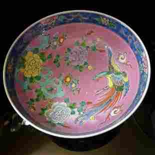 Republic ofChinese phoenix flower bowl