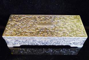 Silver Embossed Jewelry Box