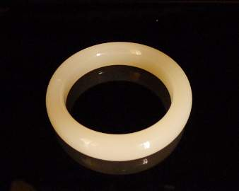 Chinese Milky 'A' Grade Jade Bangle Cert