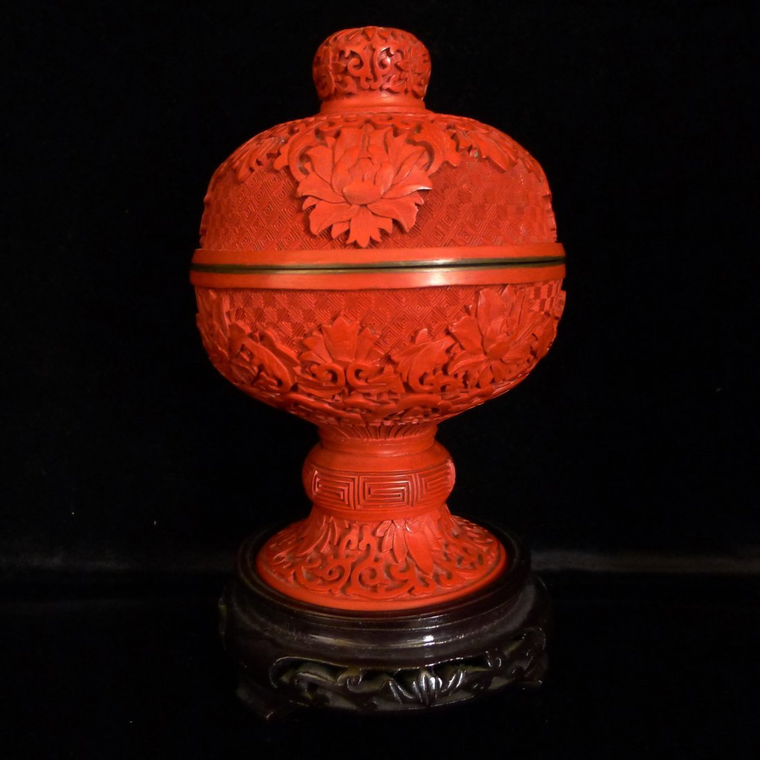 Chinese Antique Red Cinnabar Lacquer Items