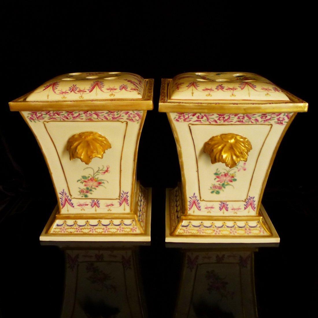 Prar of Chinese export porcelain European heraldry - 3