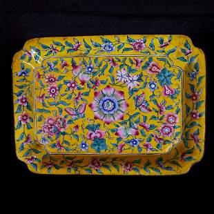 Republic of China Enamel Colors Tea Tray