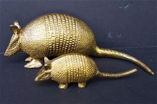 A Pair of Bronze Pangolins Decoration