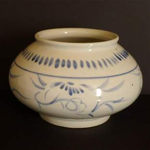 Chinese Antique Blue and White Pen Wash Jar