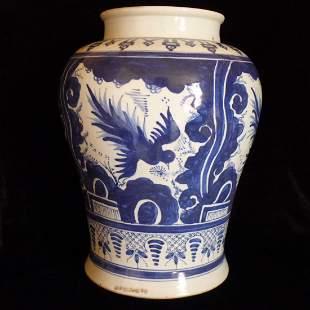 Chinese Antique Blue & White Porcelain Jar