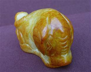 An Old Jade Cngraving Furnishing Articles And Nephrite