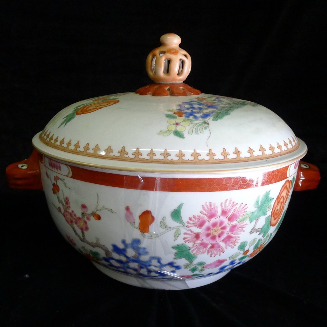 A Chinese Export Porcelain Famille Rose Jar