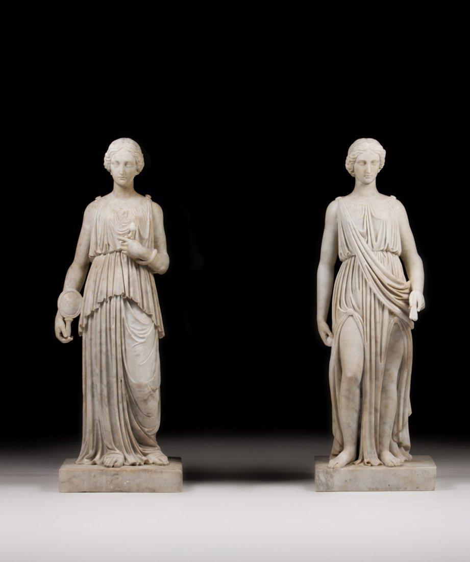 197: Par de esculturas neoclássicas