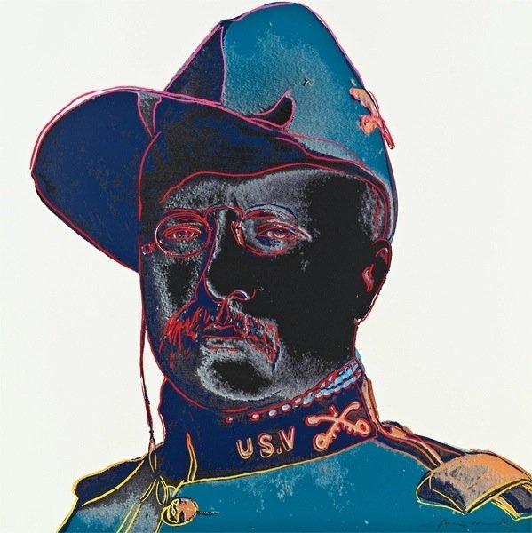 "11: Andy Warhol, ""Teddy Roosevelt"""