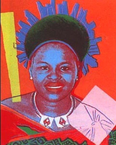 """16: Andy Warhol, """"Queen Ntombi Twala"""""""