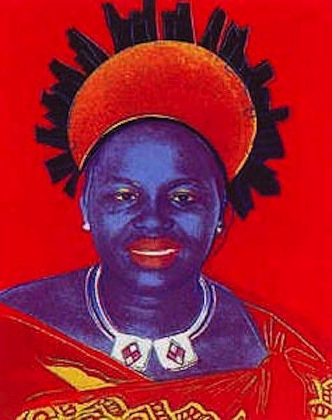 """17: Andy Warhol, """"Queen Ntombi Twala"""""""