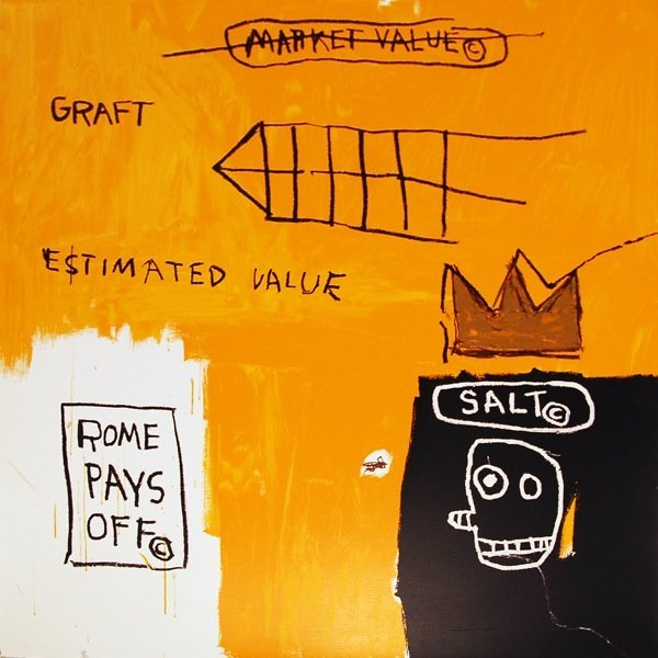 "49: Jean-Michel Basquiat, ""Rome Pays Off"""