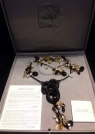 Lalique Rare Serpent Pierres Fines Necklace