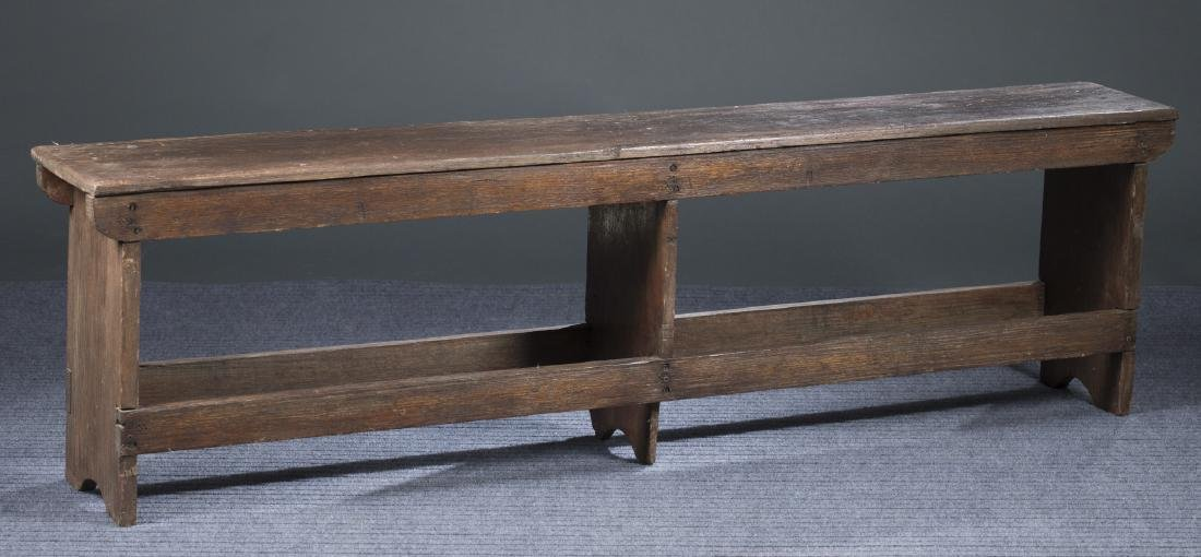 American Primitive Walnut Bench, 19th c.