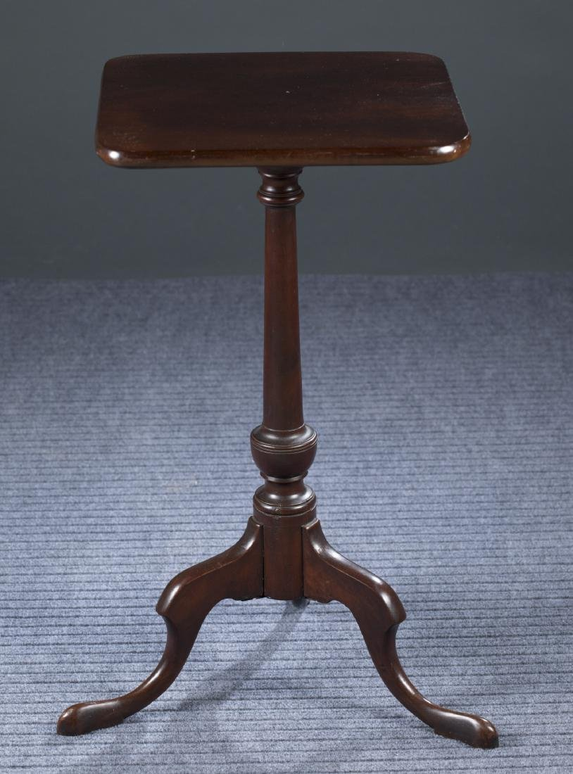 New England Mahogany Candle Stand, Early 19th c.