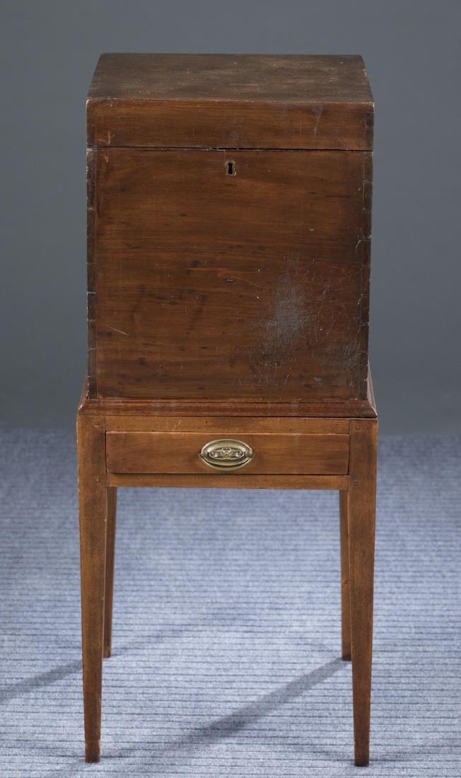 19th c. Poplar Bottle Case on Later Stand.