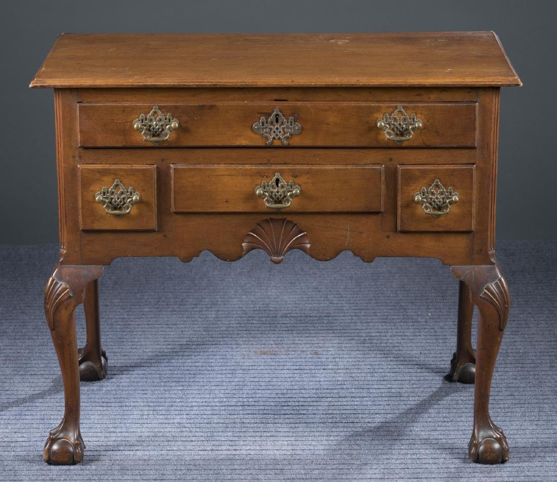 New England Chippendale Walnut Lowboy, 18th c.