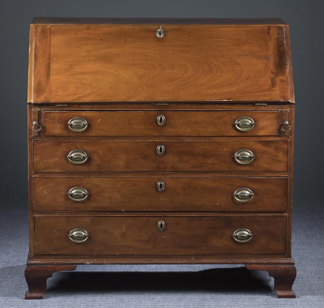 Chippendale Cherry Slant Front Desk, 18th c.