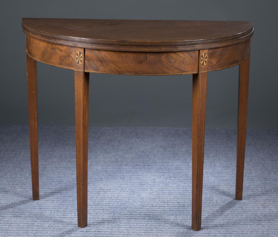 Rhode Island Inlaid Game Table, c.1795-1810.