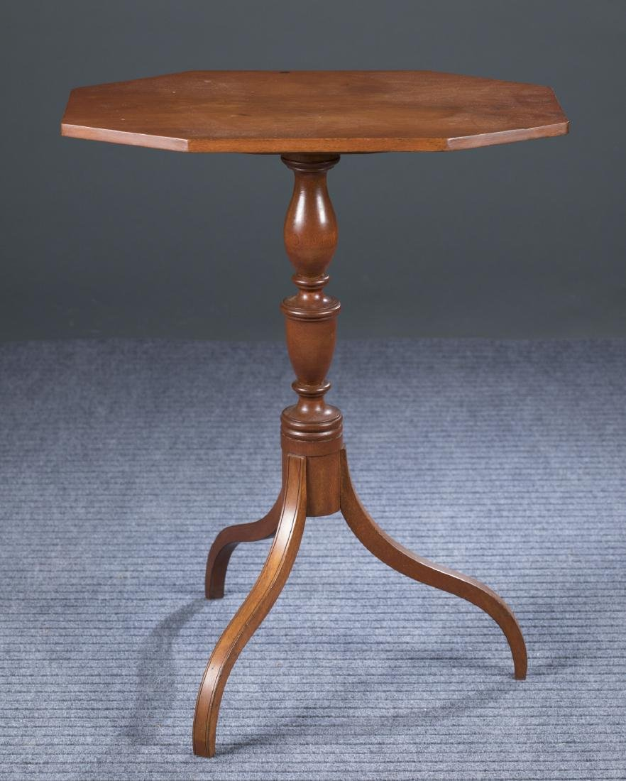 New England Birch Candle Stand, c.1810.