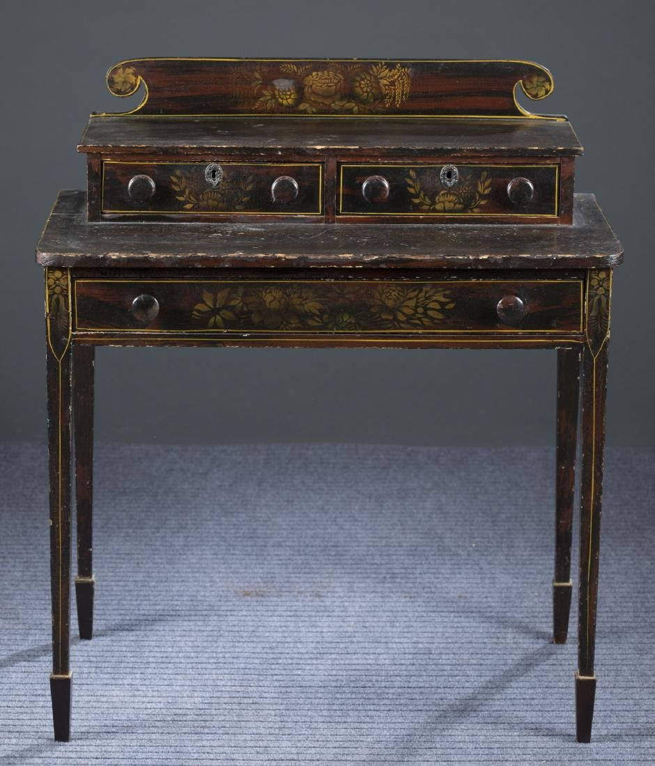 New England Sheraton Faux Rosewood Dressing Table.
