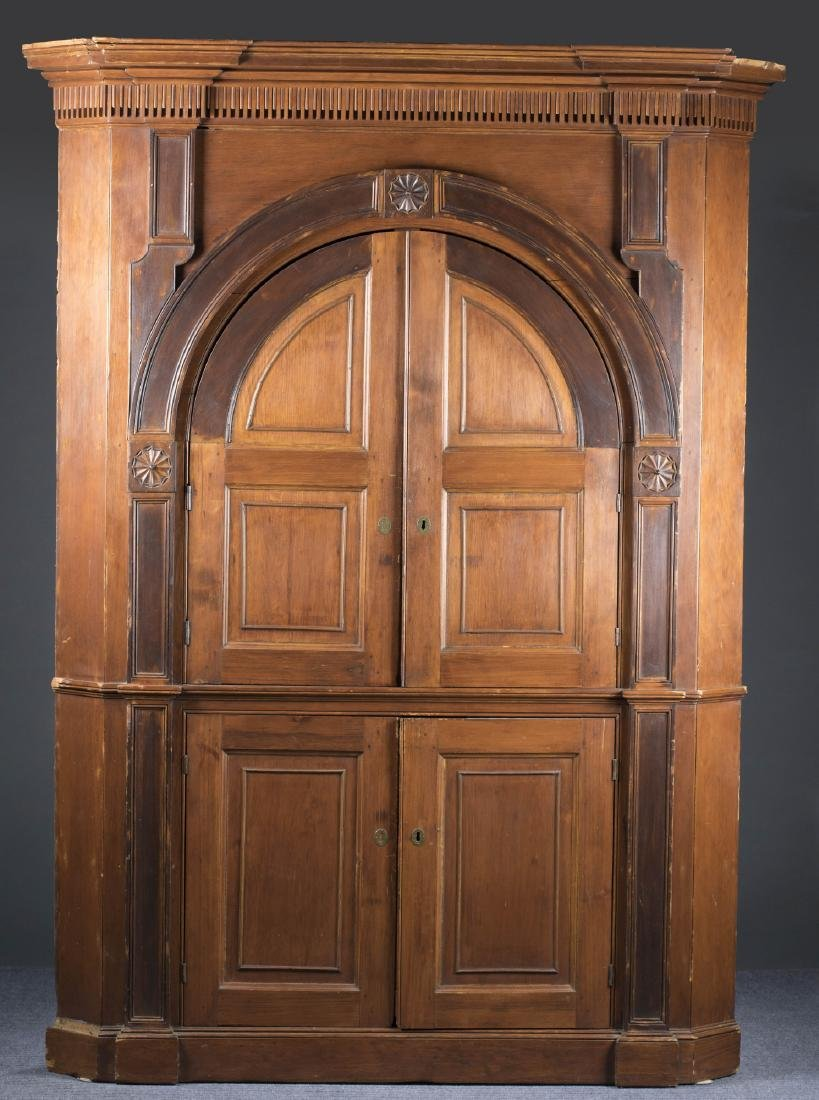 Rare Eastern Shore of VA Corner Cupboard, c.1750s.