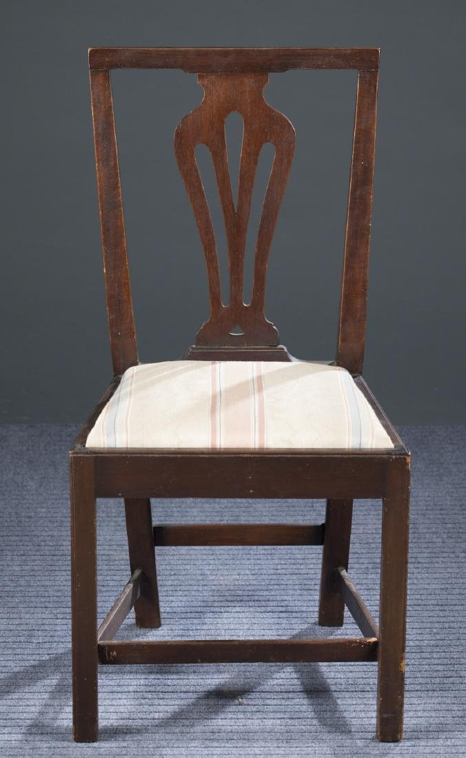 Mahogany Bench-Made Chippendale Revival Chair.