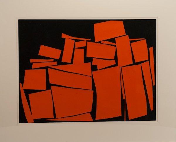 "1: Irving B. Haynes, (1927-2005), ""Orange Wall"", acryli"
