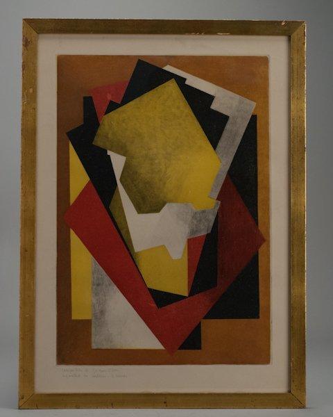 """5: Jacques Villon, France, (1875-1963), """"Composition"""","""