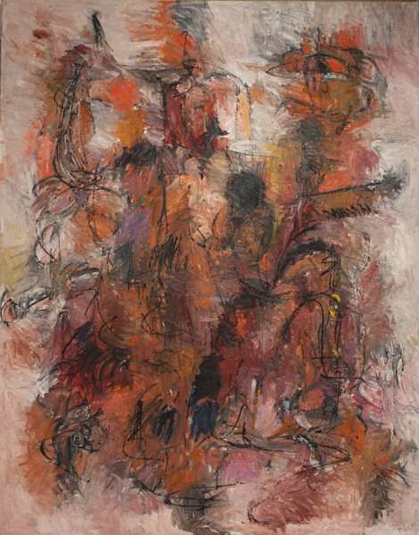 """7: Harry Nadler, (1930-1990), """"Untitled Abstract"""", oil"""