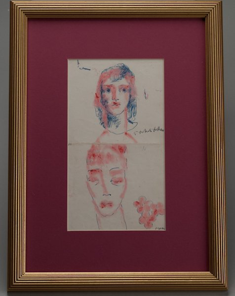 "16: Pavel Tchelitchew, (1898-1957), ""Faces"", mixed medi"