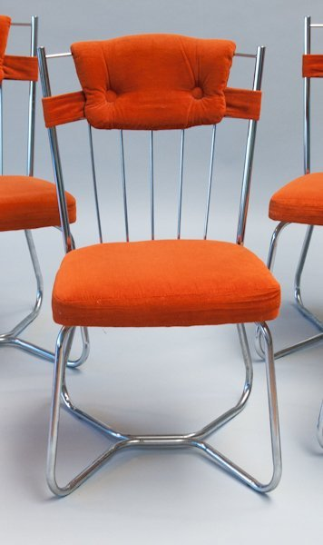 287: Set of Four Stoneville Furniture Co. Chrome Chairs - 2