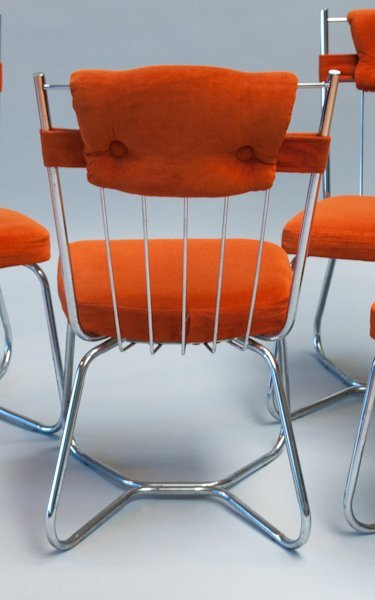 287: Set of Four Stoneville Furniture Co. Chrome Chairs - 4