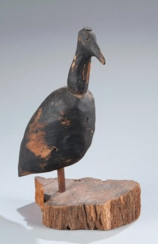 9: Early Shore Bird Decoy on Stand