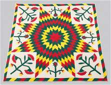 88: South East PA Pieced and Appliqued Quilt