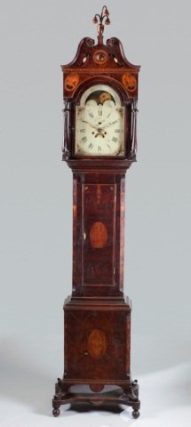 175: Southern American tallcase clock, lower Valley of