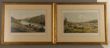 184 Pair of Edward Beyer 19th c prints of Virginia