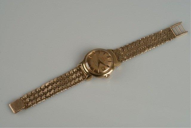 278: 14K Omega constellation chronometre watch.