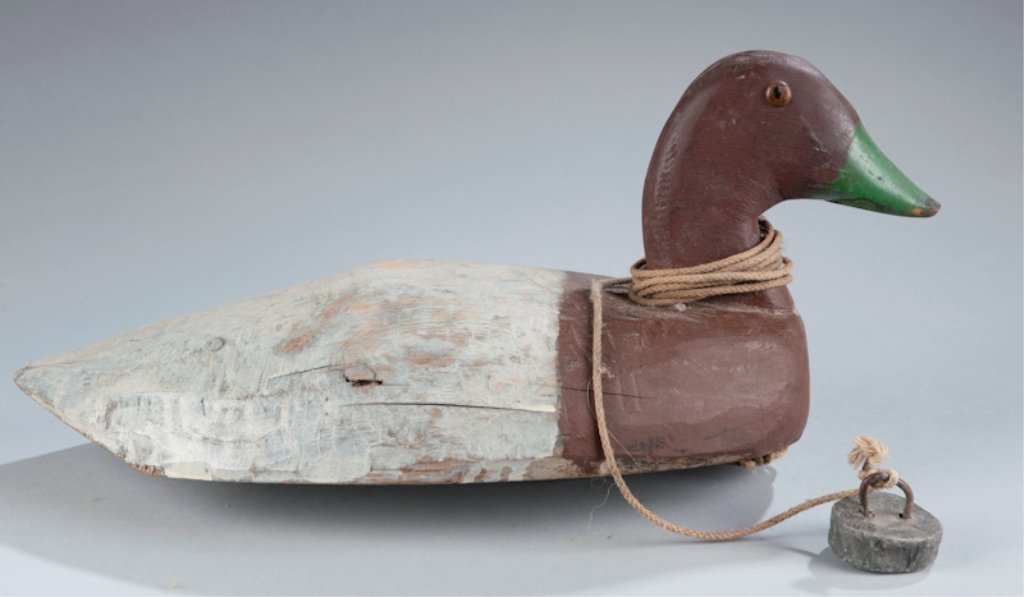 4: Canvasback Duck Decoy With Anchor