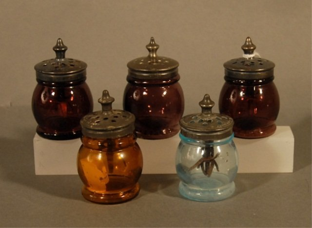 23: Five Dana K. Alden Salt Shakers