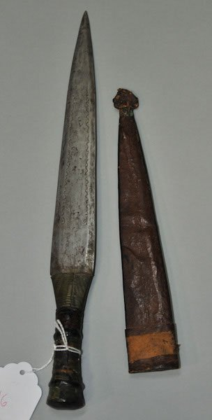 16: African dagger with original leather sheath