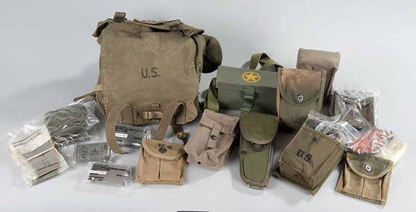 18: Collection of modern military web gear and 2 WWII M