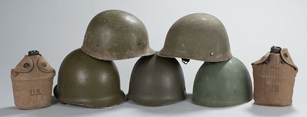 19: Four (4) US Army Koren War and later helmet liners,