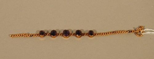 8: 14K Yellow Gold and Amethyst Bracelet