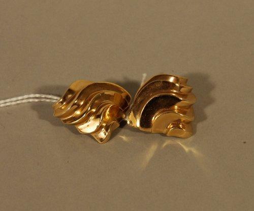 21: Pair of 14K Gold Earrings
