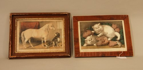 311: Two Currier and Ives Prints in Period Frames