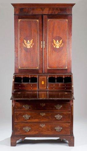 1: Federal Style Mahogany Secretary,