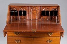 6: Walnut Slant Front Desk, Ca. 1900