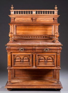 10: 20th Century Marble Top Cabinet