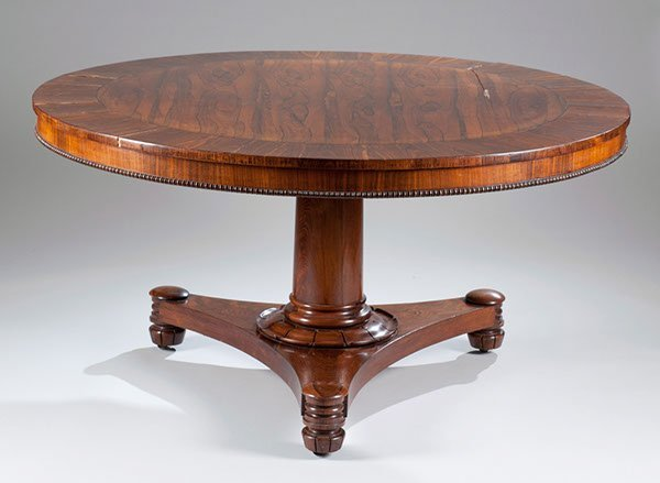 13: Rosewood Dining Table, Ca. 1840